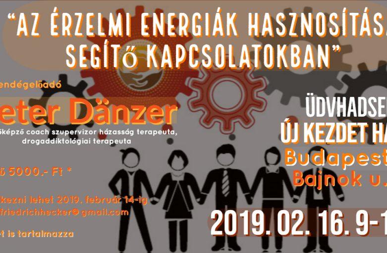 """Peter Dänzer – """"Az érzelmi energiák hasznosítása a segítő kapcsolatokban"""""""